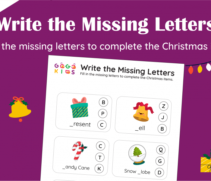 Words and Numbers: Write the Missing Letters